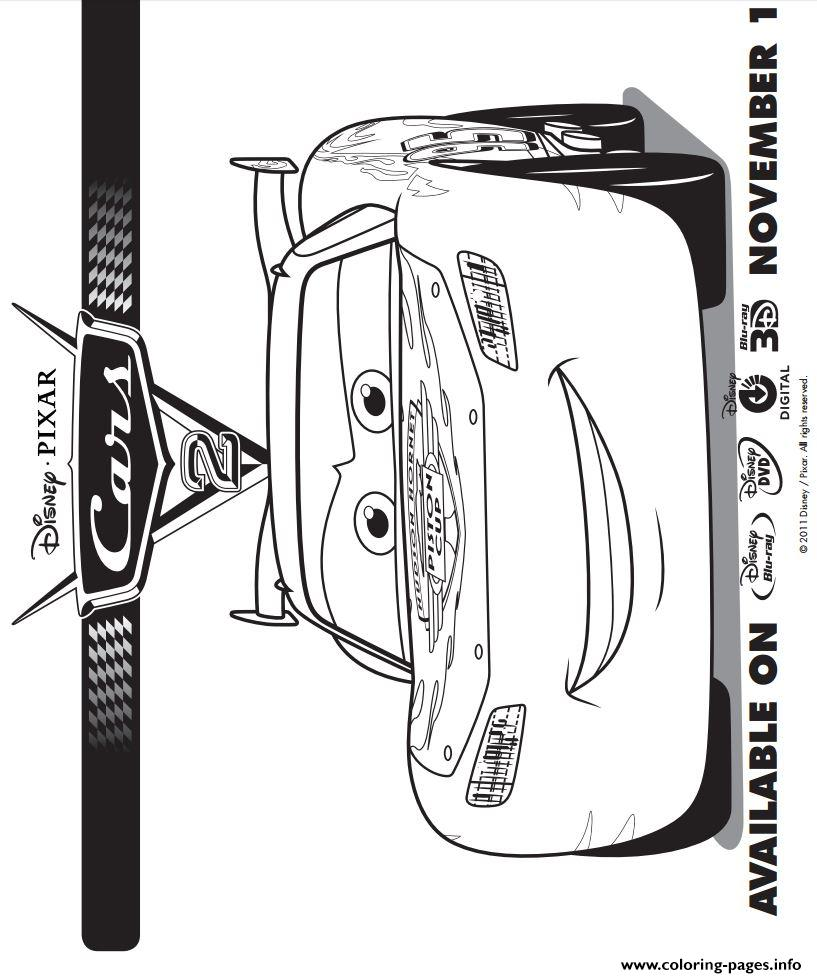 lightning mcqueen cars 2 coloring pages printable - Cars 2 Coloring Pages To Print