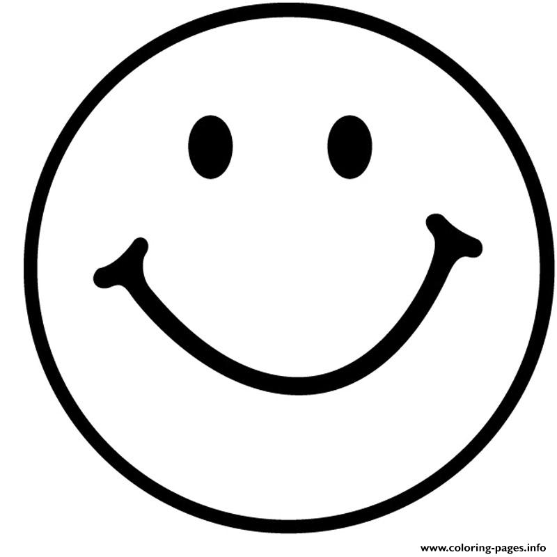 Smile Emoji Emoticon Coloring Pages