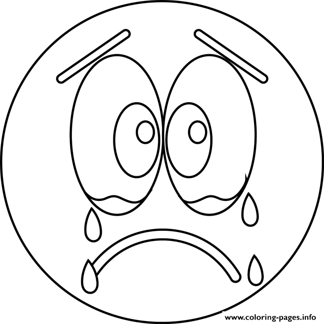 Sad Cry Emoji coloring pages