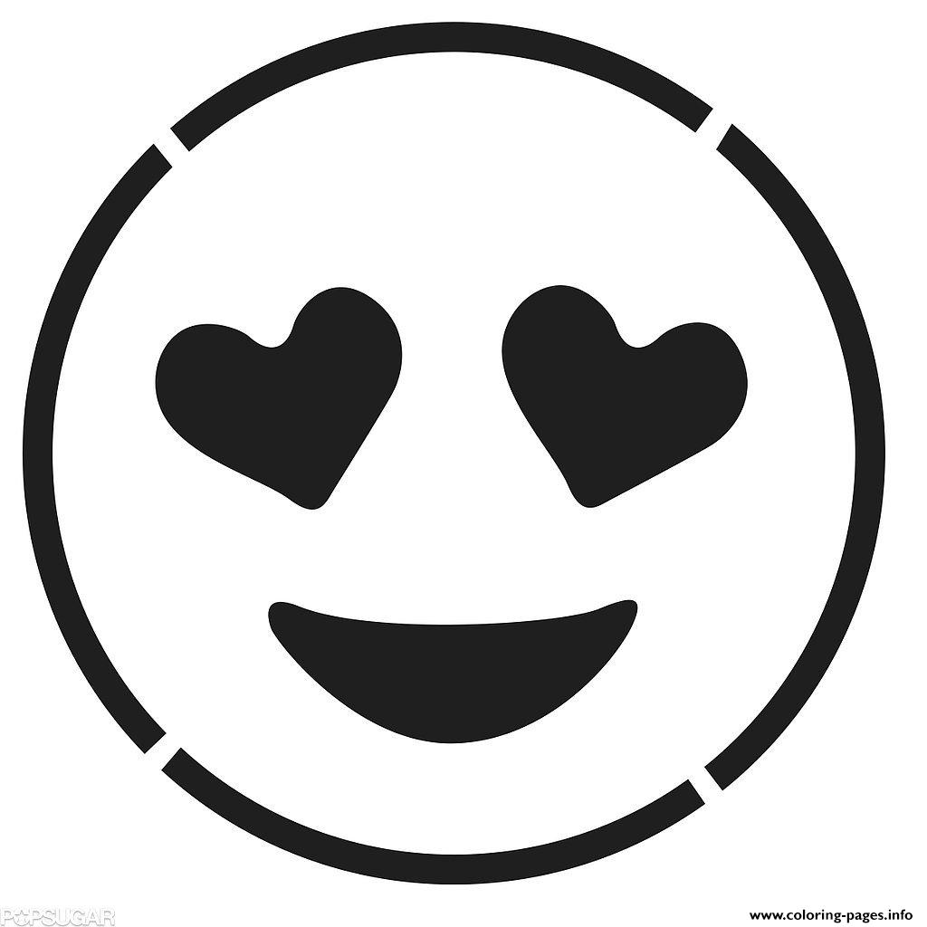 Laughing Face Emoji Black And White Smiling Face With Hear coloring pages