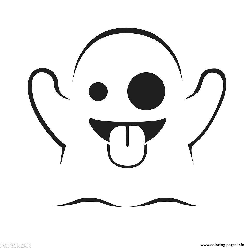 Emoji Ghost Coloring Pages Printable Ghost Coloring Page