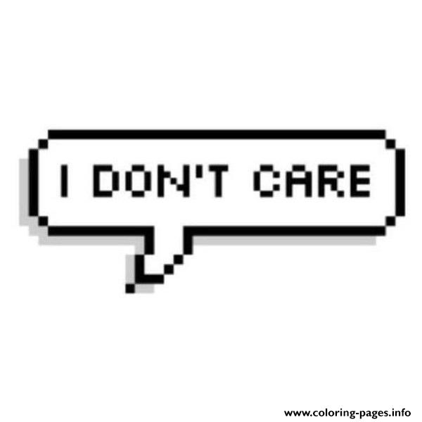 I Dont Care Emoji Coloring Pages Printable