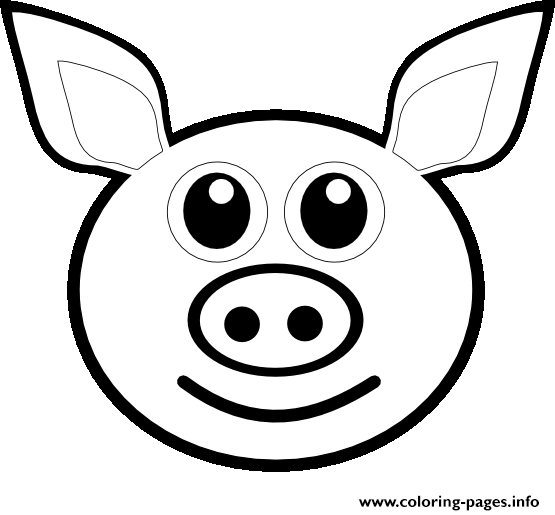 Pig Face Line Drawing : Pig emoji coloring pages printable