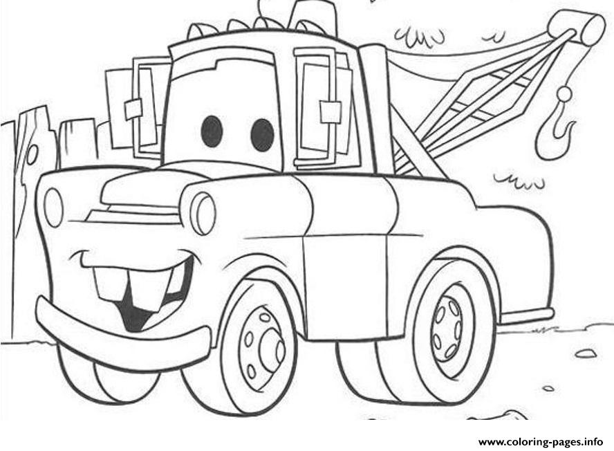 Disney cars mater coloring pages printable for Free cars coloring pages to print