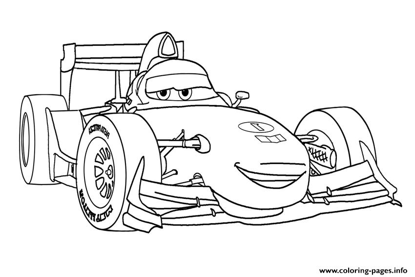 Francesco Disney Cars Coloring Pages