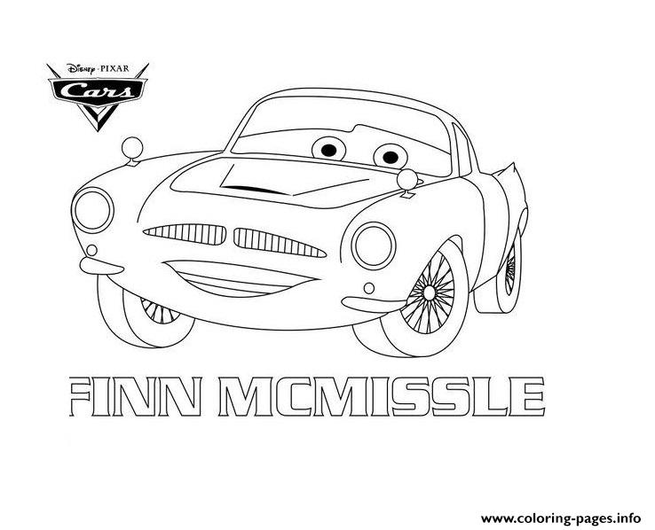 disney cars 2 finn mcmissile coloring pages | Finn Mcmissile Disney Cars Coloring Pages Printable