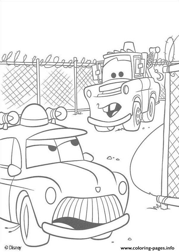 Mater Tall Tales Disey Cars 2 Coloring Pages Printable Mater Cars 2 Coloring Pages