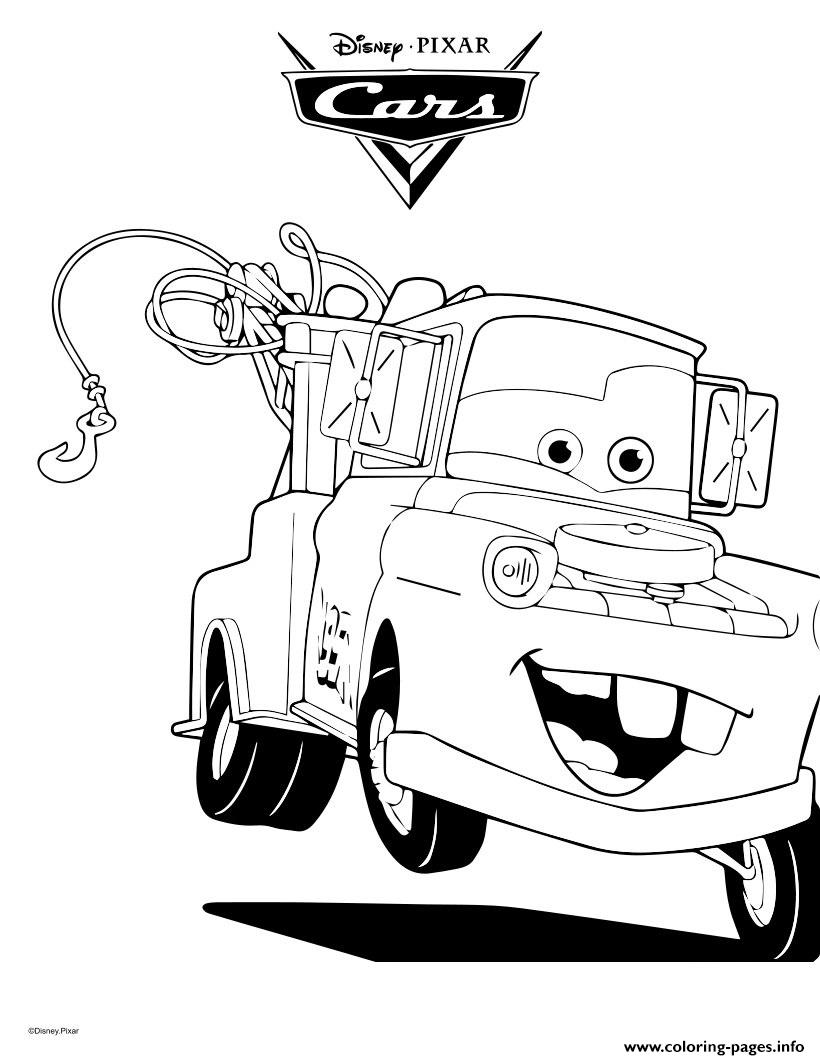 Mater The Tow Truck Cars Coloring Pages Printable