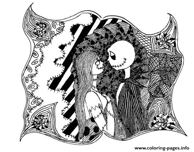adult halloween the nightmare before christmas coloring pages - Christmas Coloring Pages For Adults