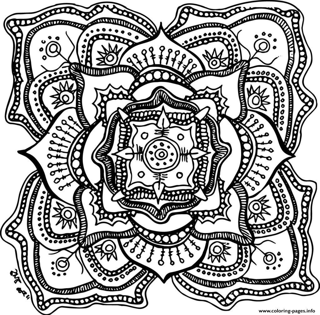 Halloween Adult Mandala Coloring Pages Printable