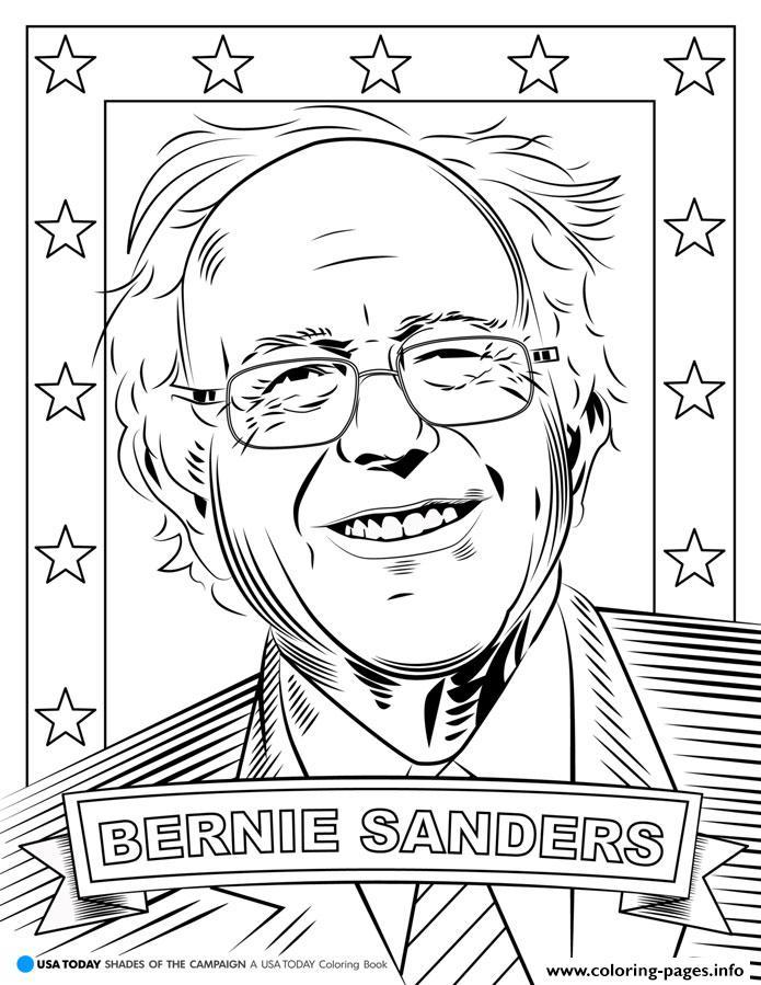 Bernie Sanders Coloring Pages Printable