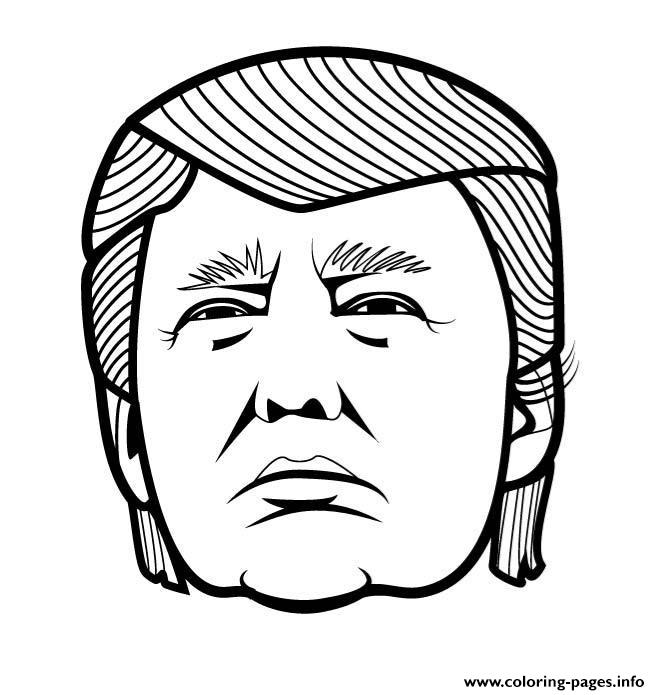 Donald Trump Vector Funny Coloring Pages Printable