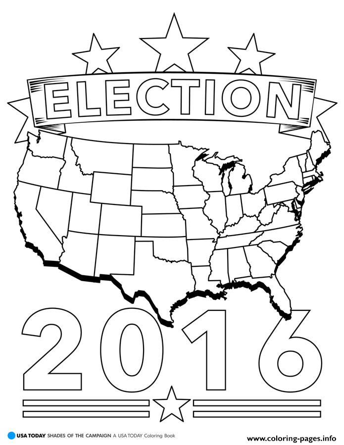 Election 2016 America coloring pages