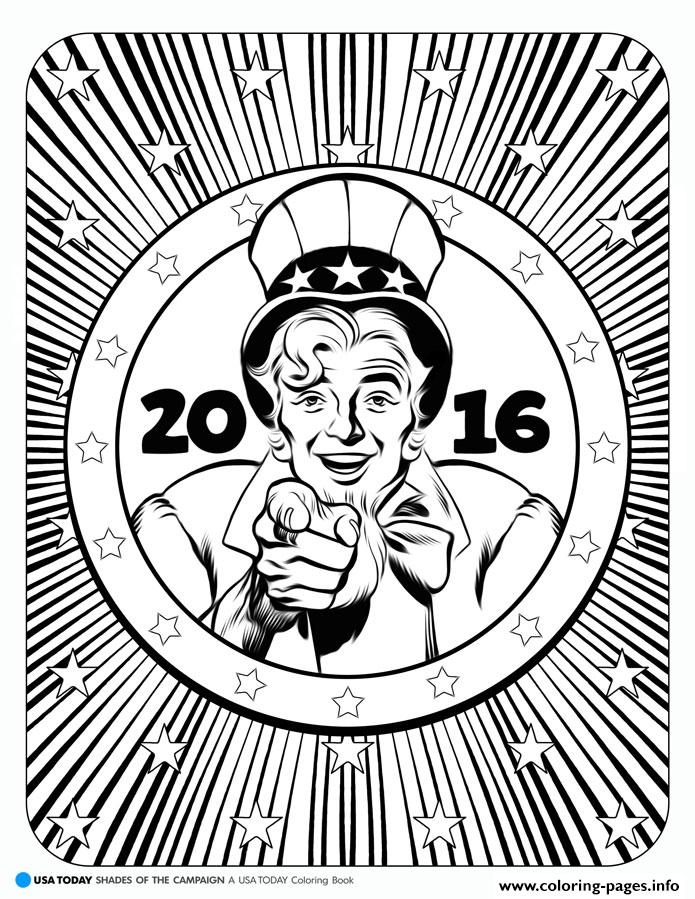 Donald Trump Shades Of The Campaign Usa coloring pages