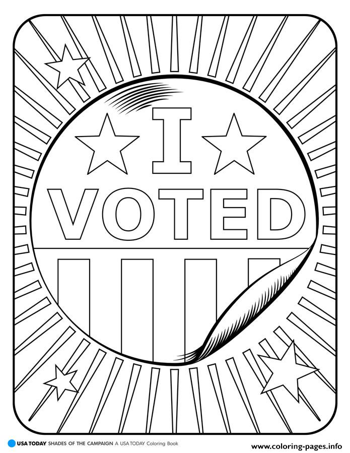 voting coloring pages I Voted Coloring Pages Printable voting coloring pages