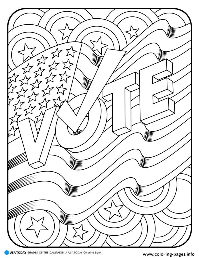 America Vote coloring pages