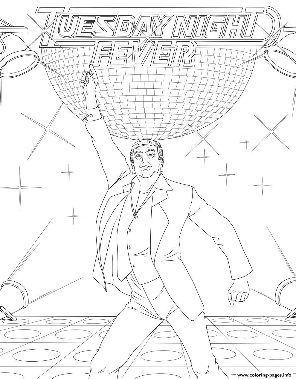 Donald Trump Saturday Night Fever Coloring Pages Printable