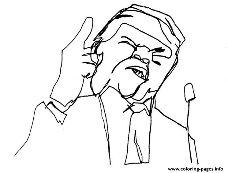 Donald Trump By Kid Coloring Pages Printable
