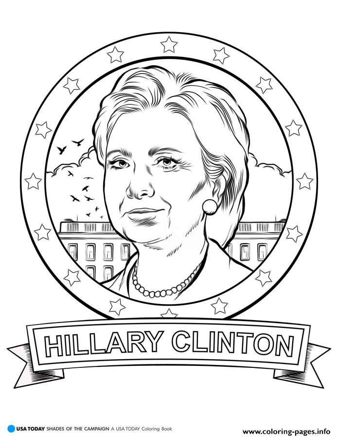 Donald trump hillary clinton coloring pages printable for Free election day coloring pages