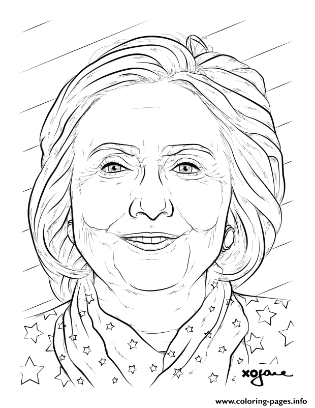 Hillary Clinton coloring pages