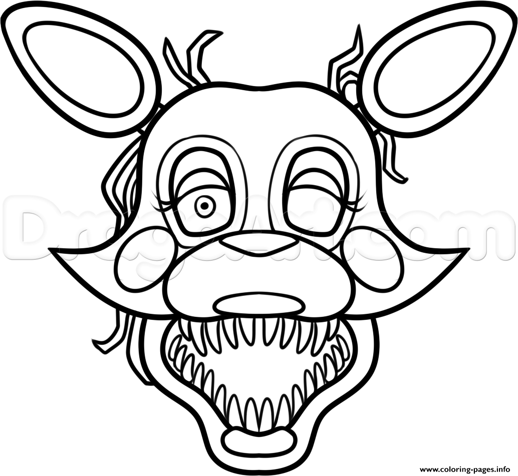 graphic regarding Five Nights at Freddy's Printable Mask titled Mangle Versus 5 Evenings At Freddys 2 Fnaf Coloring Webpages