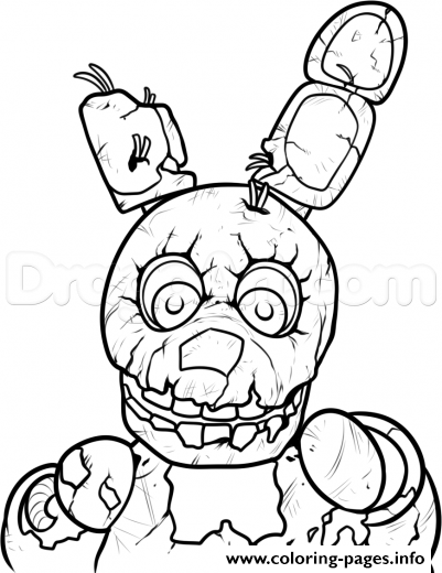 fnaf 3 coloring pages - photo#3