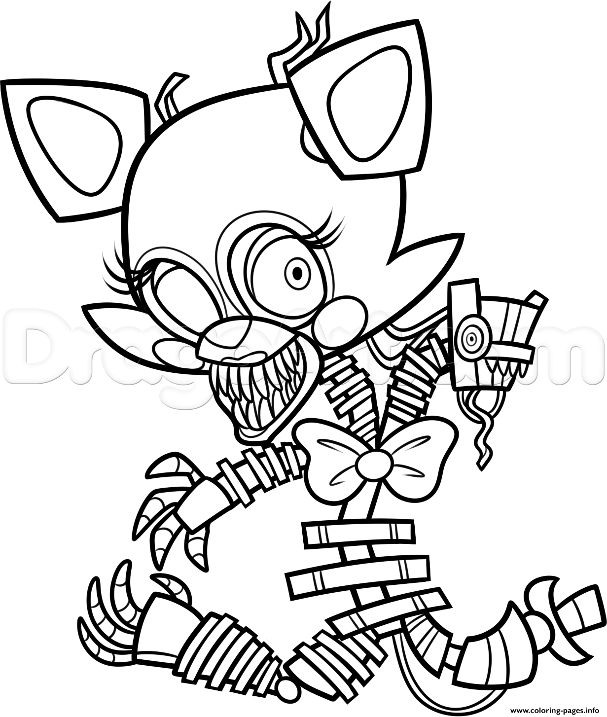 Freddy S At Five Nights 2 Fnaf Coloring Pages Printable