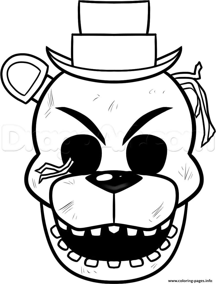 Not happy five nights at freddy fnaf coloring pages printable for Freddy coloring pages