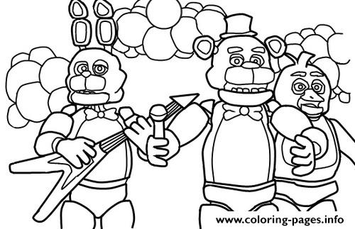 Five Nights At Freddys Fnaf Music Band Coloring Pages Printable