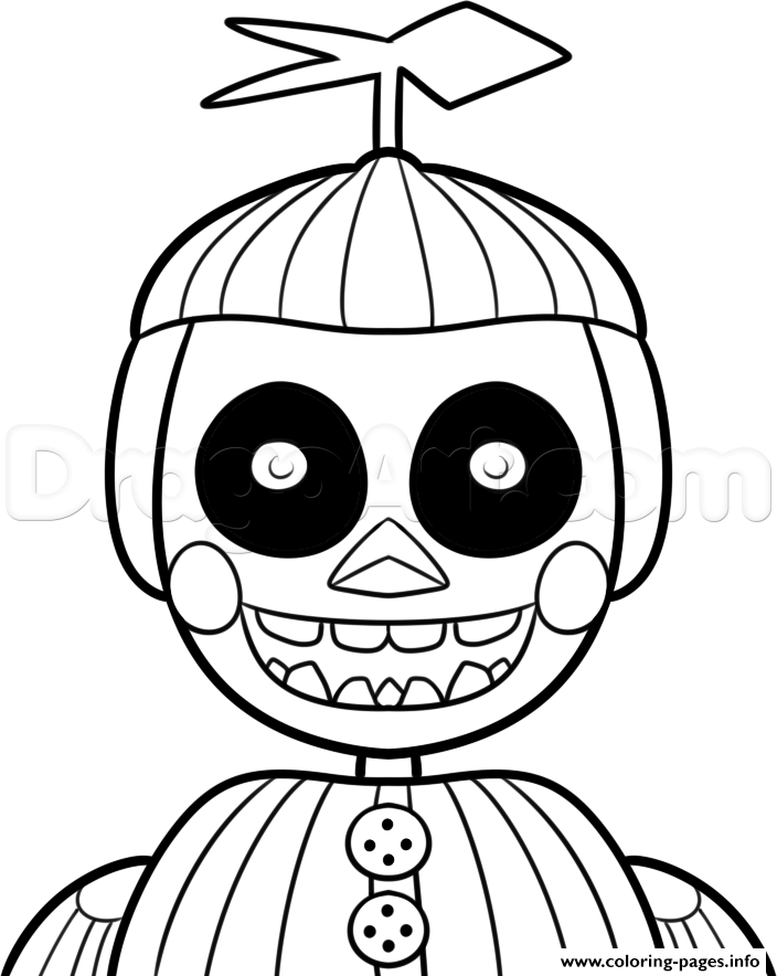 Phantom Balloon Boy Five Nights At Freddys Fnaf Coloring Pages