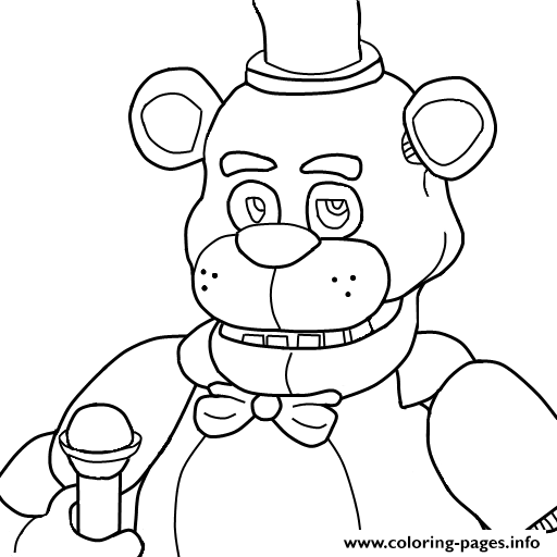 graphic about Free Printable Five Nights at Freddy's Coloring Pages titled 5 Evenings At Freddys Fnaf Coloring Webpages Printable