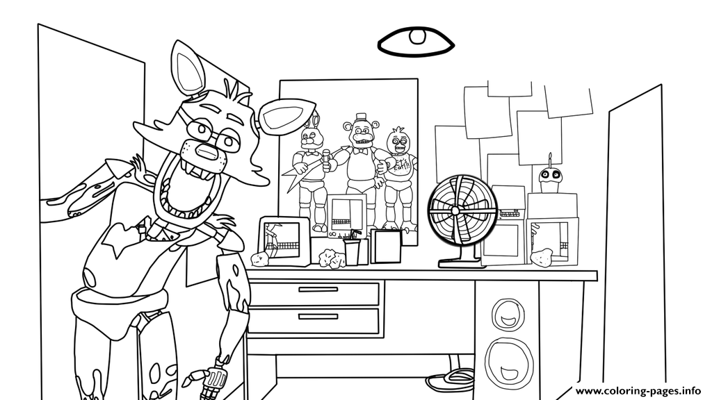 Five Nights At Freddy House Freddys Fnaf Coloring