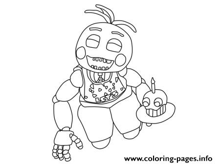 Five Nights At Freddys Fnaf 2 Birthday Coloring Pages Printable