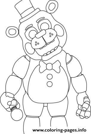 Five Nights At Freddys Fnaf 2 Coloring Pages Printable