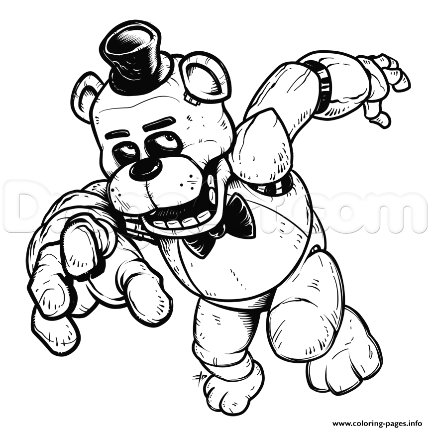 freddy five nights at freddys fnaf coloring pages