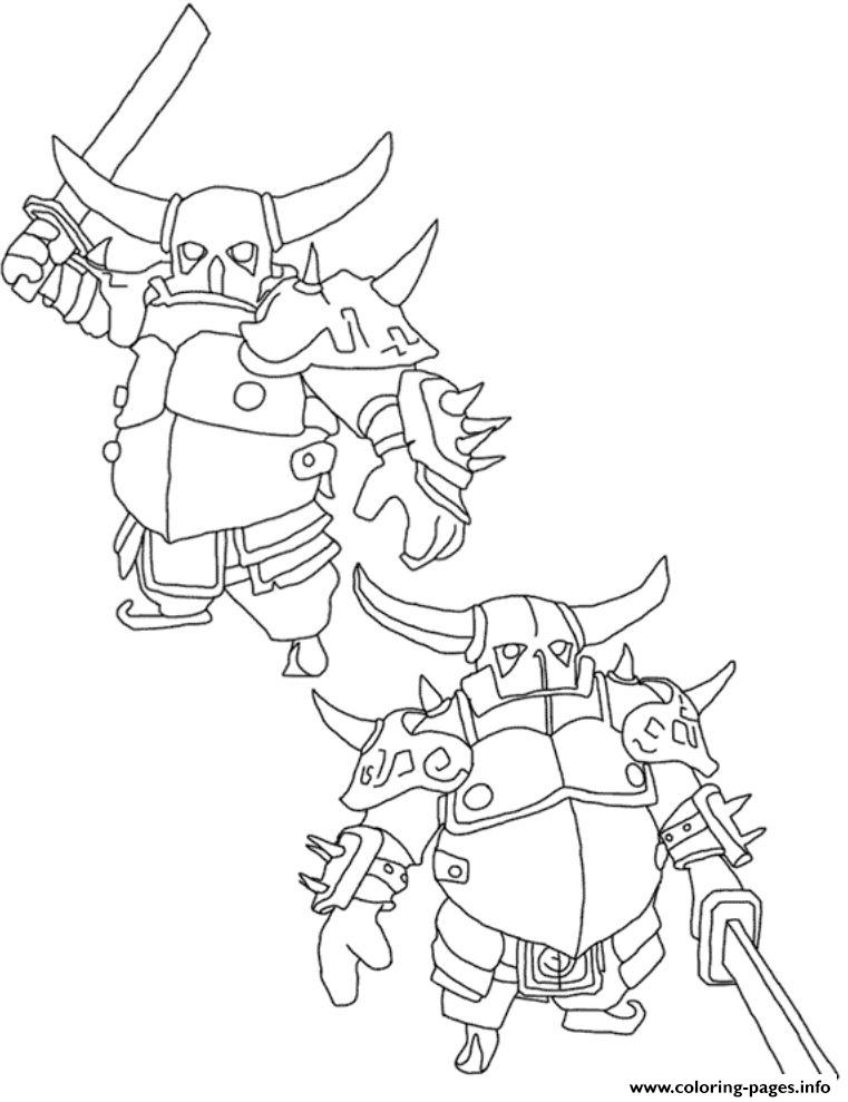 Pekka 3 Clash Of Clans Coloring Pages Printable