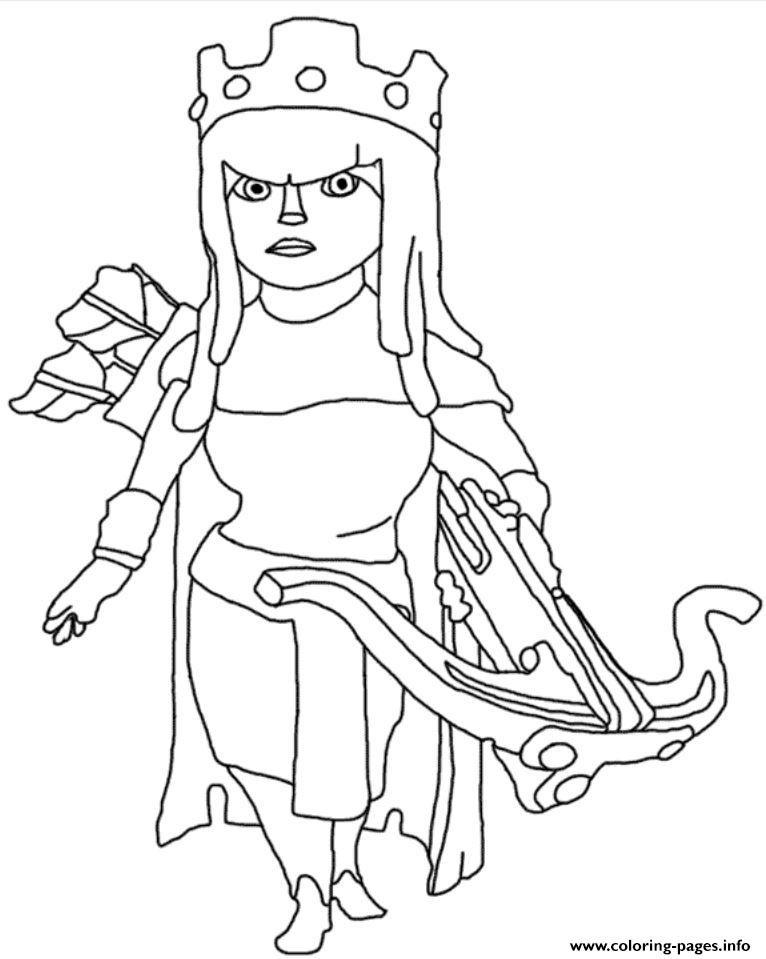 Archer Queen Clash Of Clans Coloring Pages