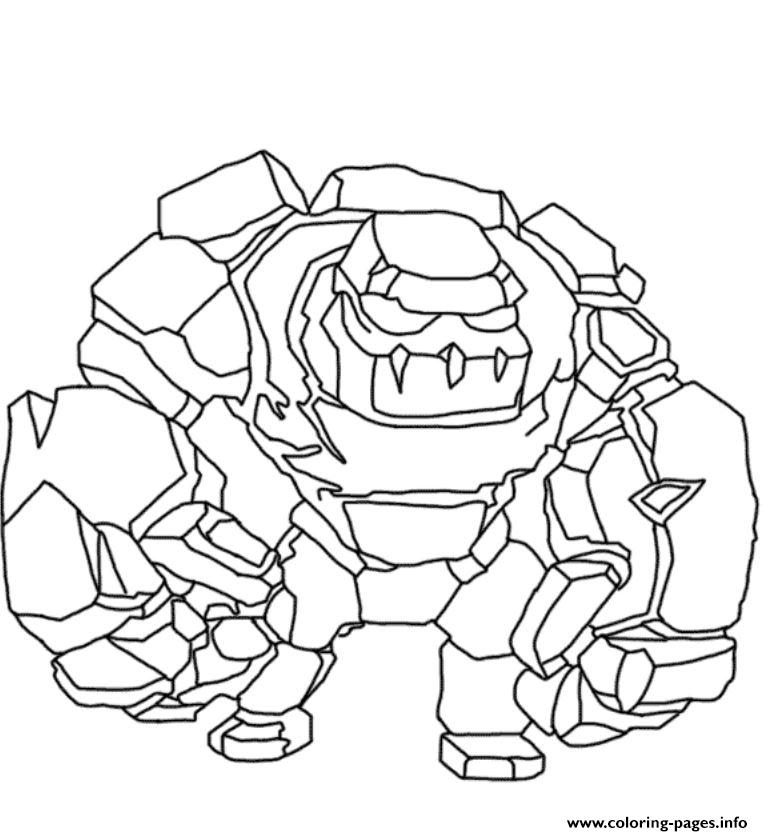 golem clash of clans coloring pages printable