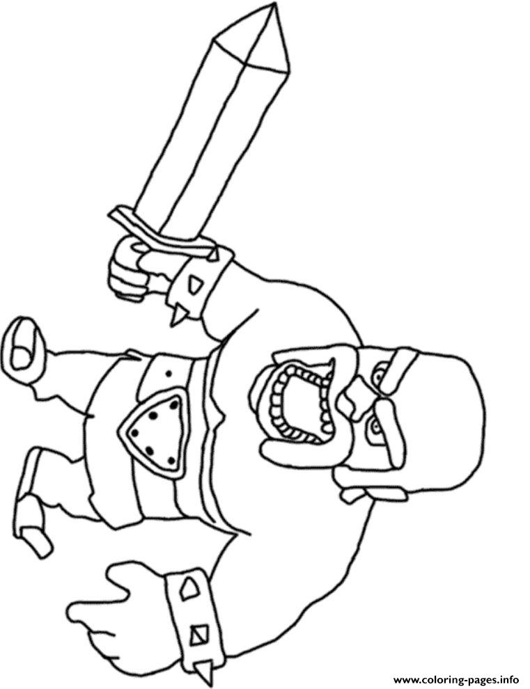 Barbarian King 2 Clash Of Clans Coloring Pages