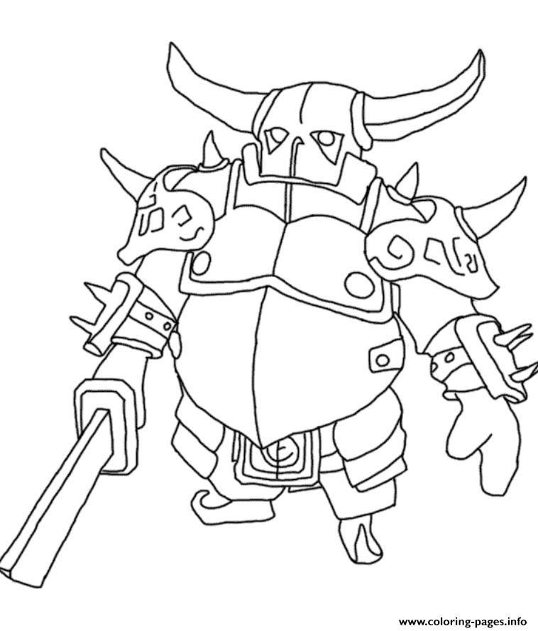 clash of clans coloring pages PEKKA Clash Of Clans Coloring Pages Printable clash of clans coloring pages