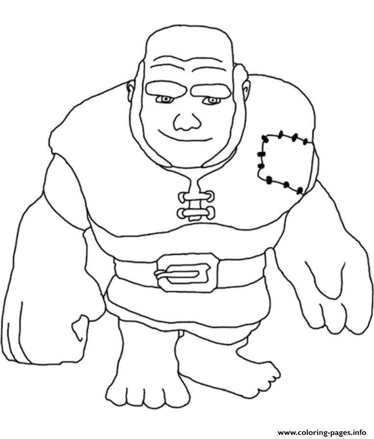 Giant Clash Of Clans coloring pages