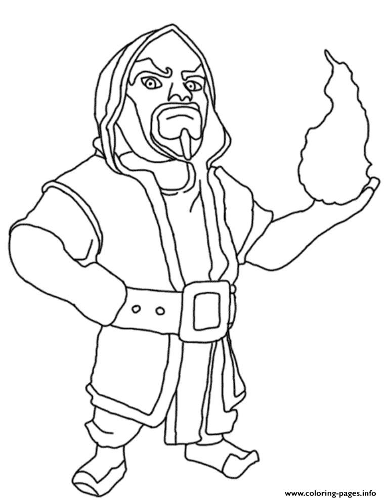 Wizard Clash Of Clans Coloring Pages