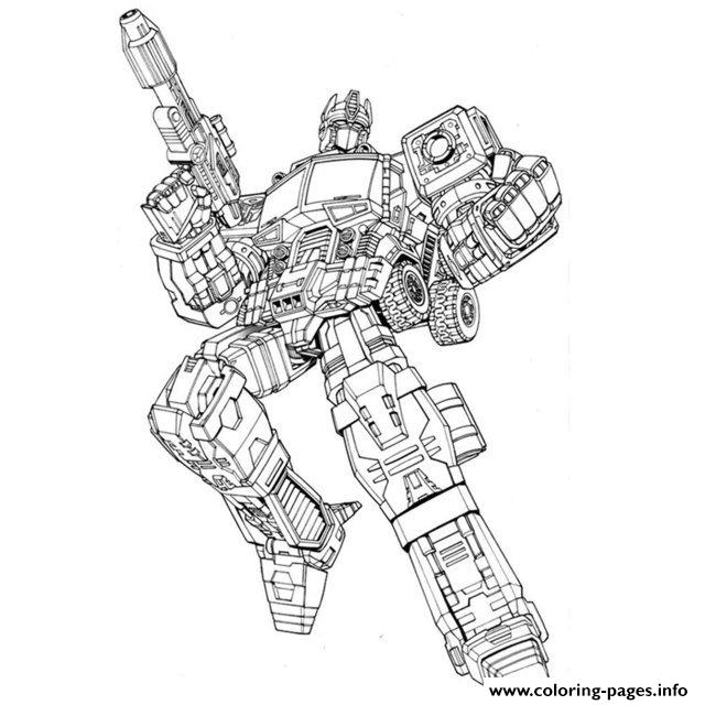 Transformers Optimus  coloring pages