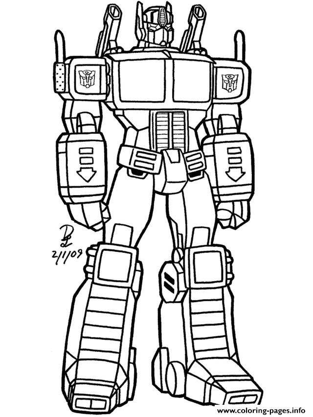 Transformers 190 Coloring Pages Printable