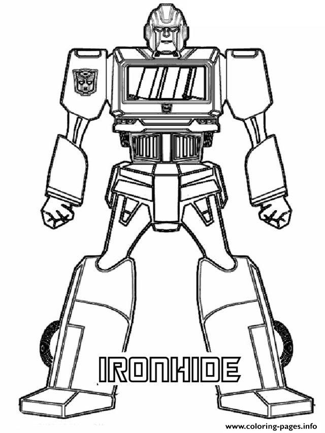 Transformers Ironhide Coloring Pages Printable - Ironhide-coloring-pages