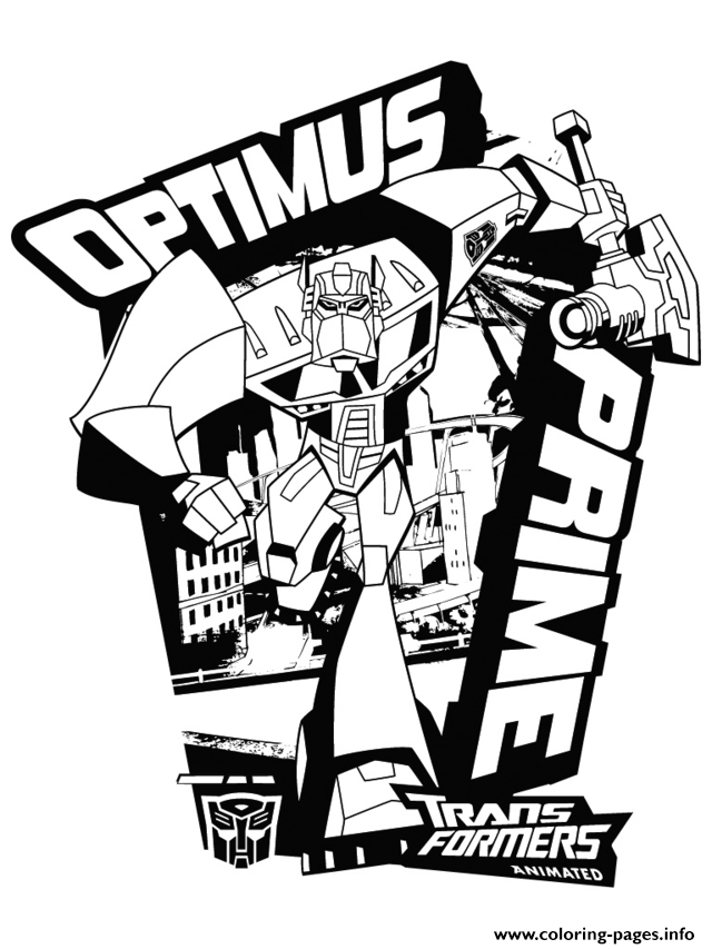 Transformers Optimus Prime 3 Coloring Pages Printable