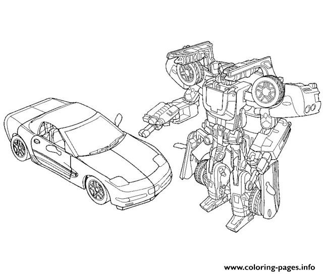 transformers car coloring pages printable