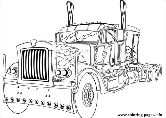 Transformers Truck Coloring Pages