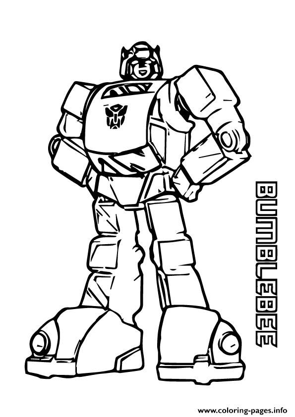 Transformers BumbleBee A4 Coloring Pages