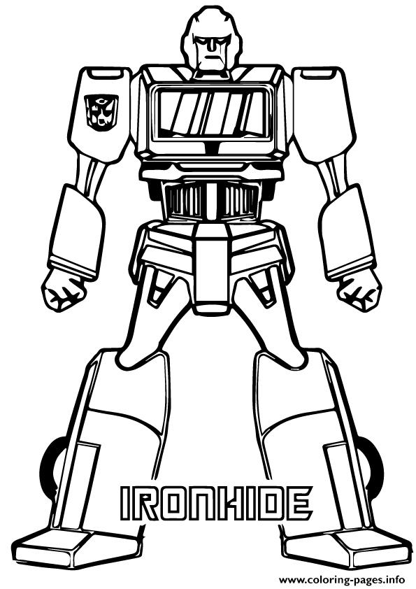 Transformers Iron Hide A4 Coloring Pages Printable